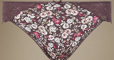 Marks And Spencer Floral Lace Wrap Knickers Briefs Size 14 Lingerie BNWT