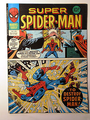 Super Spider-Man #270 - Marvel UK (United Kingdom) aus dem Jahr 1978 - Vintage!!