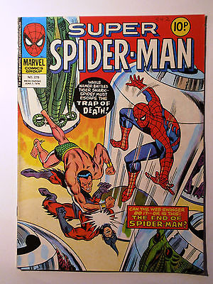 Super Spider-Man #278 - Marvel UK (United Kingdom) aus dem Jahr 1978 - Vintage!!