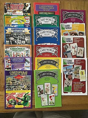Cartophilic Notes & News Card World Cigarette Cards/Trade Cards Magazine