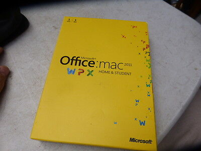 Microsoft Office MAC Apple 2011 Home and Student English