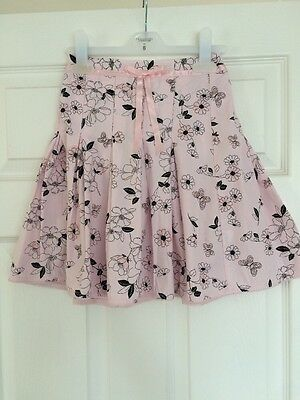 Marks & Spencer Girls Pink Skirt Age 7 Fab Condition!