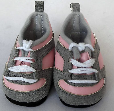 Pink / Grey Sneakers Doll Shoes 4 Baby Alive / Baby Born