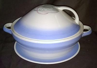 Susie Cooper - Tureen - Three Feathers - Vintage - Sky Blue & White - Original