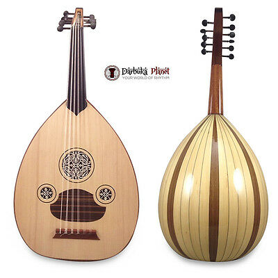 "Professional Turkish Oud "" The White Star "" ,Cat#166B-KL with Soft carry case"