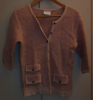 Vintage Size Small New Zealand Pink Wool Cardigan Excellent Condition