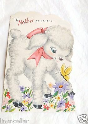 Vintage Easter Cute Lamb Greeting Card Coutts Used
