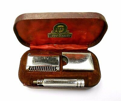 Vintage Early 1900's Every-Ready Safety Razor Shaving Kit in Org. Box - NICE!