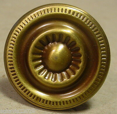 "Antique Brass 1 "" inch Diameter Cabinet Drawer Knob Handle Colonial Fine Details"