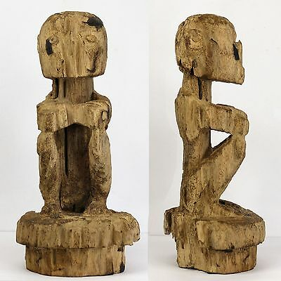 Early BULUL carved wooden STATUE RICE GOD figure IGOROT people PHILIPPINES
