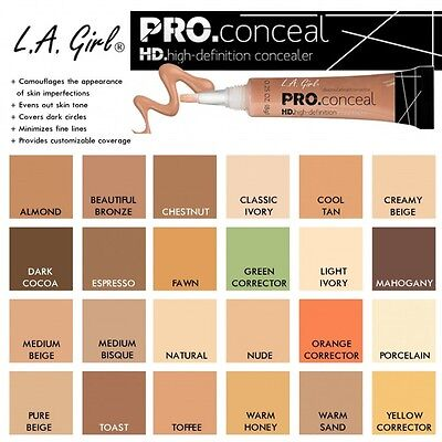 La L.A. Girl HD Pro Concealer -4 for $26 ONLY-  $6.5/EACH - INCLUDE NEW SHADES!