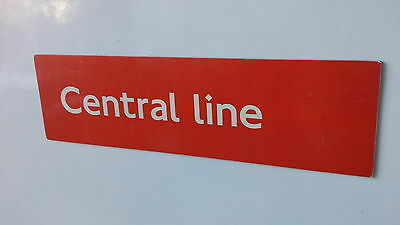 London Underground magnetic sign. Central Line.