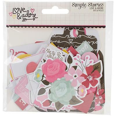 Love & Adore Diecuts Simple Stories Bits & Pieces Die Cuts Ephemera