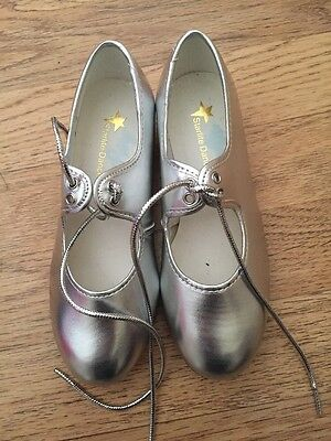 Girls Silver Tap Shoes Dance Size 1