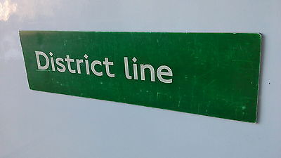 London Underground magnetic sign. District Line.