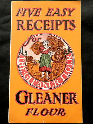 GLEANER FLOUR Advertising Recipe Booklet FIVE EASY RECEIPTS