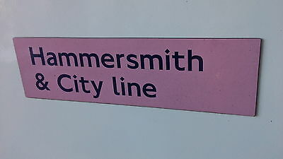 London Underground magnetic sign. Hammersmith and City Line.