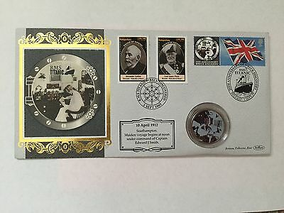 2005 - TITANIC 20th ANNIVERSARY - DISCOVERY OF THE WRECK - COIN & STAMP COVER