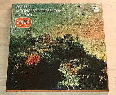 I MUSICI 12 concerti grossi CORELLI 1stPress STEREO PHILIPS 3LP Box MINT