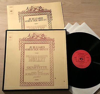 JUILLIARD STRING QUARTET - MOZART 1stPress COLUMBIA CBS 3LP Box MINT