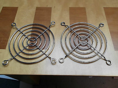 Fan Guard 80mm Chrome 5 Ring G80-18 Bright Steel Wire x 2pcs or Trade Offers