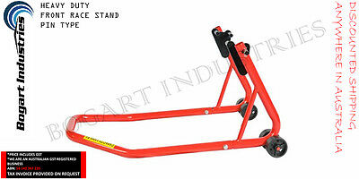 Heavy Duty Motorcycle Front Race Paddock Garage Stand, Steel Construction