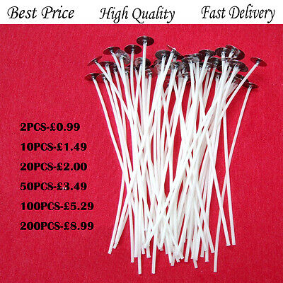15cm High Quality Pre Waxed Wicks DIY Candle Making Party Wax with Sustainers