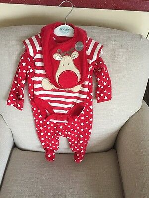 George Baby 3 Piece Christmas Set First Size