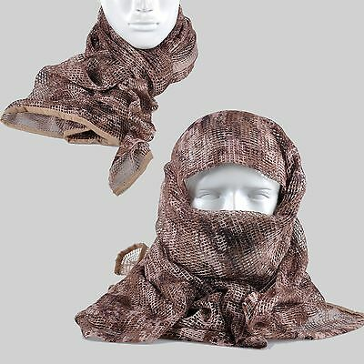 A-TACS Camouflage Camo Army Mesh Breathable Scarf Wrap Mask Shemagh Veil