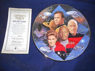 1997 Star Trek: 30 years Hamilton Collection Captain's Tribute by Todd Treadway
