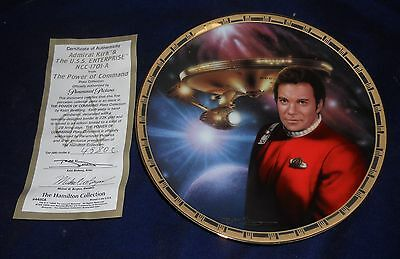 1995 Star Trek Hamilton Collection Power of Command Admiral Kirk & NCC-1701-A