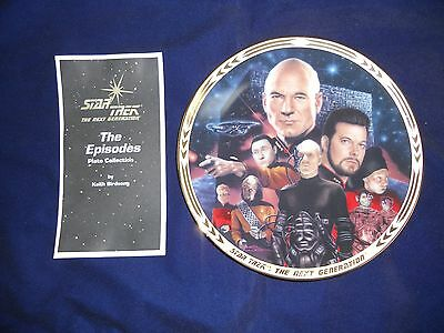 1994 StarTrek TNG The Episodes Hamilton Collection plate The Best of Both Worlds
