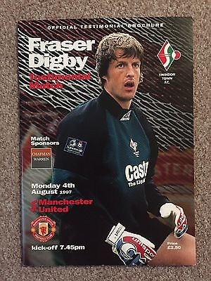 Manchester United Swindon Town Programme