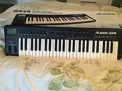Alesis QX49 USB Midi Keyboard Controller with box