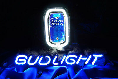IF215 Bud Light Can Bottle Beer Bar Pub Display Neon Light Sign 13x8