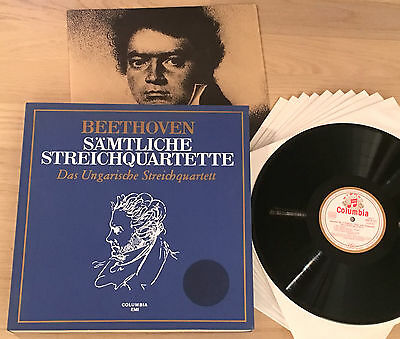 HUNGARIAN STRING QUARTET - BEETHOVEN 1stPress 1960s COLUMBIA 10LP MINT