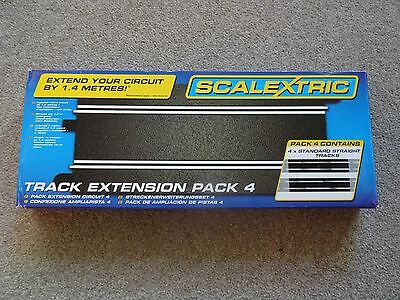 4 x 'BRAND NEW' - Full Standard Straight - Scalextric Sport Extention Track Pack