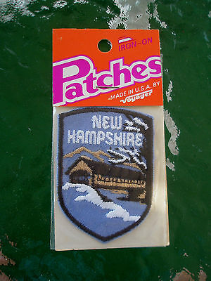 Vintage Voyager Iron-on Patch - New Hampshire - Covered Bridge