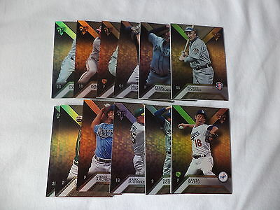 Topps Triple Threads 2016 Baseball Trading Cards Lot Of 12 Premium Base Cards