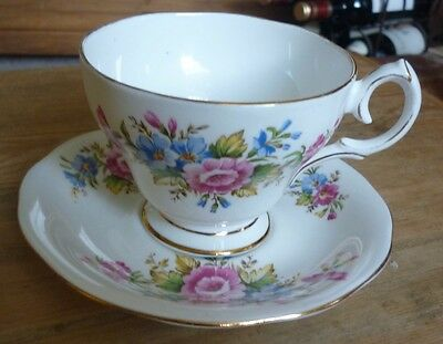 Queen Anne Floral China Cup And Saucer