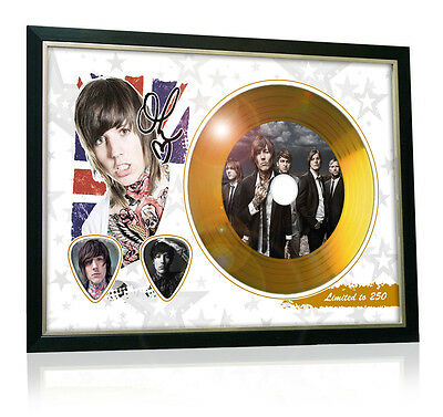 Oli Sykes Bring Me The Horizon Flag Style Signed Gold Disc Display