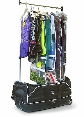 Dance Bag With Garment Rack Teen Wheeled Duffle Collapsible Costume Clothing Bar