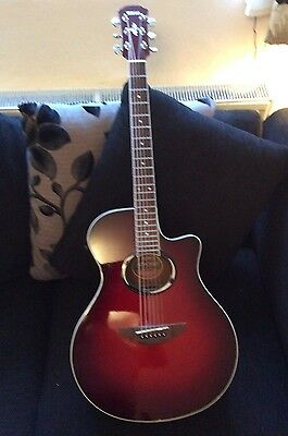 A1 Yamaha Apx 500 Electro Acoustic Guitar Cherry Coloured