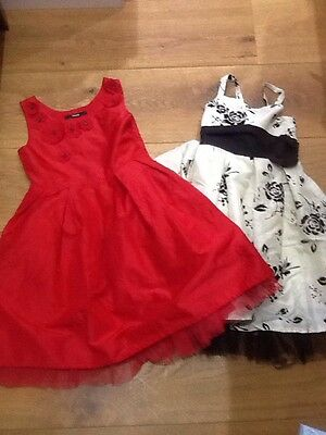 girls red christmas party dress age 7-8-9 years