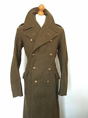 Mens Vintage Ww2 Army Military Greatcoat Size 38