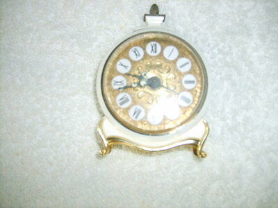Jerger German Small Working Self Wind Clock See Photos And Listing