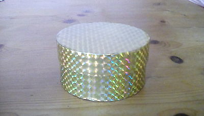 Set Of 6 Gold Round Gift Boxes