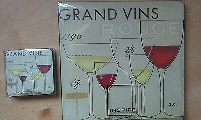 Wine design Placemats and Coaster set. Brand new