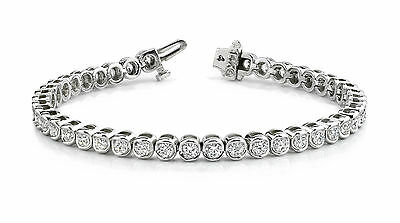 50.ct Round Delicated Diamond Tennis Bracelet 14k White Gold Over Classic 7.25""