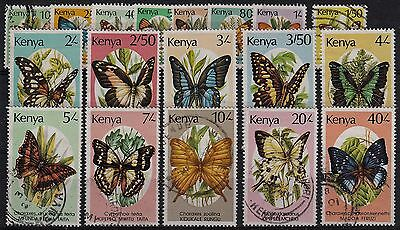 Kenya 1988 Butterfly Set of 18 SG434a/50 Fine Used